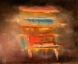 Untitled abstract original oil painting Frankie Laufer
