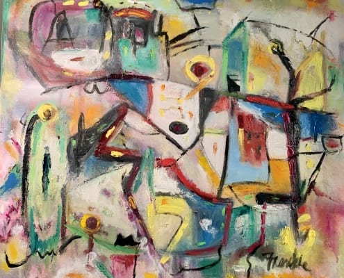 lost highway colorful abstract painting oil frankie laufer