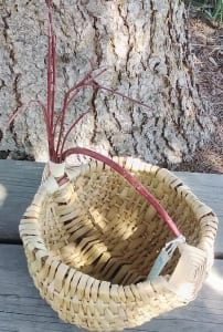 white basket woven handle lisa kostelak artisan