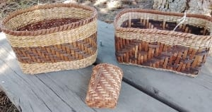 baskets rattan organic cedar rushes woven lisa kostelak