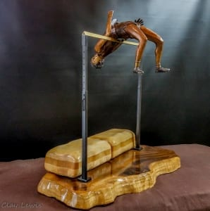you can fly fosbury flop clay lewis bronze statue