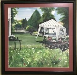 quilt show tent boldman house original watercolor lorna barth