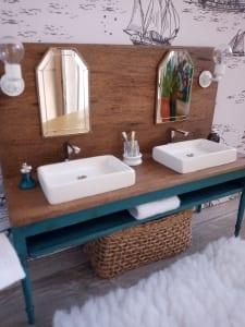 bathroom miniature sink mirror home decor erica watts