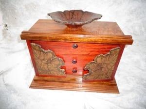 bloodroot jarra wood tall box jewelry drawers ron jackson