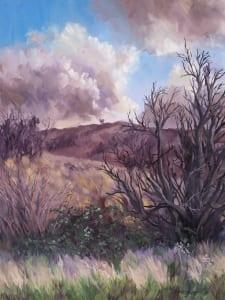 studio landscape country view trees hills rural jordan henderson art