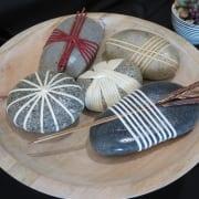 Japanese Wrapped Stones rocks cane calm denise wagner