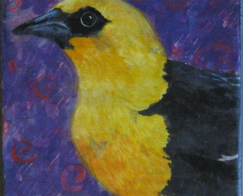bird yellow muse color profile batik denise elizabeth stone