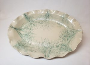 oval grass ceramic pottery platter bowl merrilyn reeves