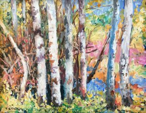 spring birch forest woods landscape oil painting montgomery